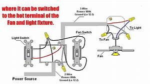 Light And Ceiling Fan Control Switch Wiring Diagram On Single Independent
