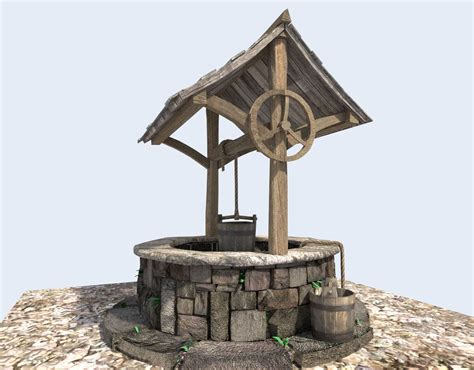 medieval water well 3D Model OBJ 3DS FBX BLEND DAE X
