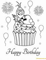 Coloring Birthday Happy Pages Cupcake Frozen Olaf Disney Printable Nice Colouring Sheets Cupcakes Christmas Princess Elsa Anna Cards Tegninger Yahoo sketch template