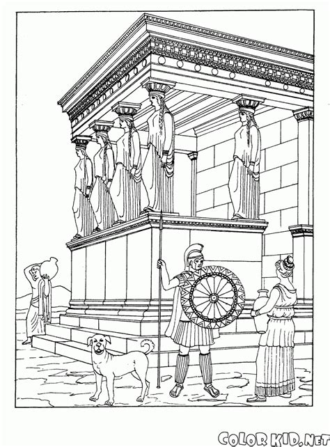 Tempel Kleurplaat by Coloring Page Temple In Athens
