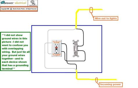 A Light Wiring Diagram For Gfi by I Need A Wiring Diagram For A Gfci Wall With Light Switch