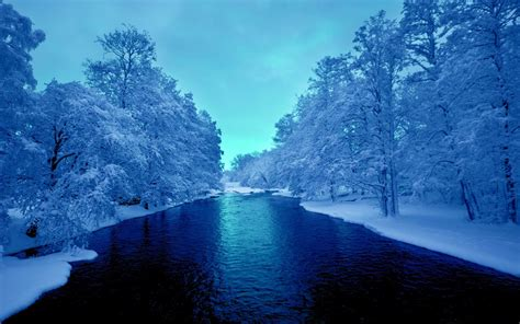 Winter Wallpapers Free Download Cold Winter Blue River 4k Uhd Wallpapers Hd Wallpapers
