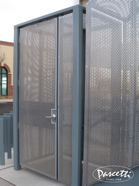 perforated panel railing pascetti steel design