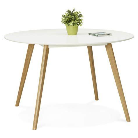 table de cuisine ronde en bois table à manger style scandinave ronde millet en bois ø 120 cm blanc