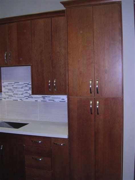 Flat Panel Cabinets by Discontinued 2019 Cherry Flat Panel Kitchen Cabinets