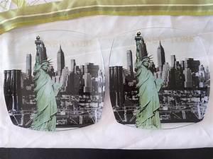 Troc Echange Lot De 2 Assiettes En Verre New York Sur