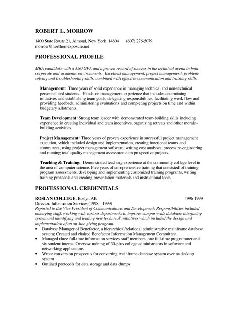 Http Resume by Mba Candidate Resume Http Www Resumecareer Info Mba