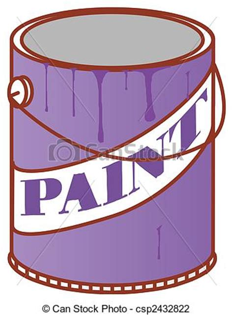 paint can clipart clip of paint can illustration drawing of a color