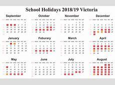 Free School Holidays 2019 Printable Calendar VIC Victoria