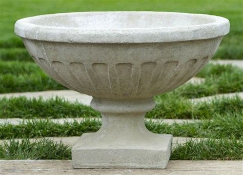 Carved Of Weathered Natural Stone, The Alpine Stone Urn