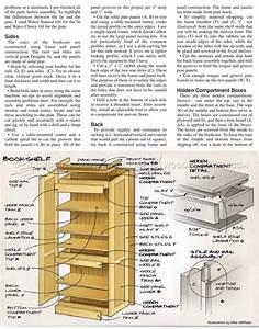Hidden Compartment Bookshelf Plans • WoodArchivist