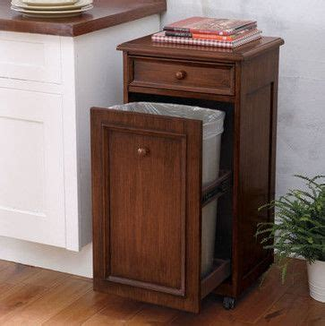 kitchen cabinet with trash bin mobile waste bin traditional kitchen trash cans for our 7983