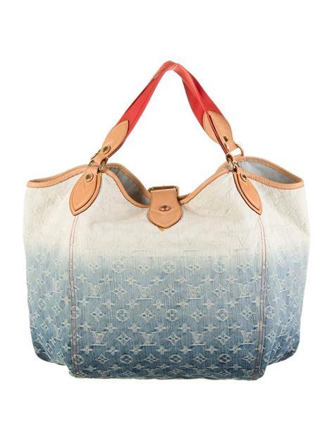 louis vuitton denim sunbeam bag handbags lou  realreal