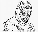 Wwe Coloring Pages Mask Rey Without Mysterio Clipartmag sketch template