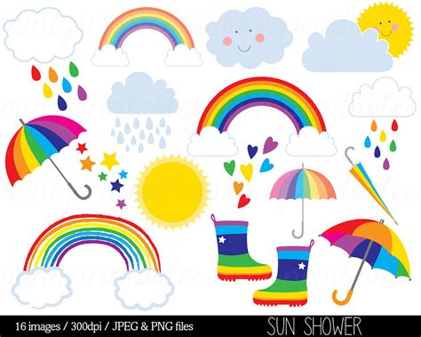 realistic clipart rainbow pencil and in color realistic
