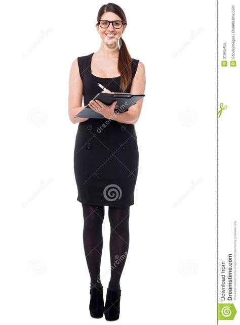 secretaire en bas joli secr 233 taire prenant en bas des notes photo libre de droits image 31965455