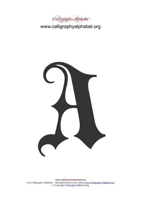gothic calligraphy alphabets