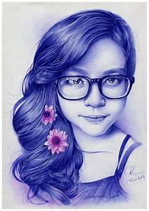 ballpoint pen drawing- my girlfriend by Thanh-KaMi on ...