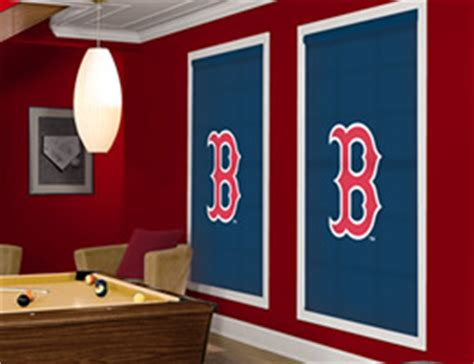 officially licensed mlb boston red sox window blinds