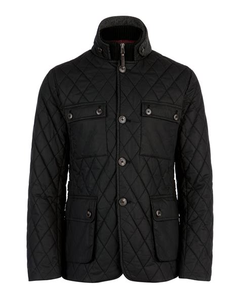 ted baker quilted jacket lyst ted baker kemond quilted jacket in black