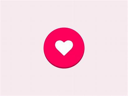 Button Animated Interaction Dribbble Heart Icon Icons