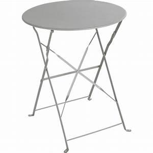 Table De Jardin Ronde : table de jardin naterial flore ronde gris 2 personnes leroy merlin ~ Teatrodelosmanantiales.com Idées de Décoration