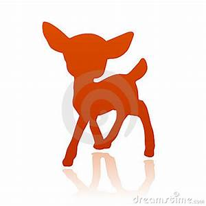Little deer fawn silhouette   Clipart Panda - Free Clipart ...