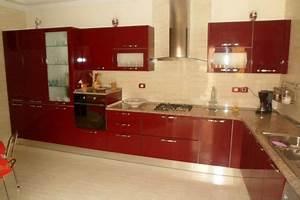 Decoration cuisine rouge bordeaux for Idee deco cuisine avec cuisine couleur rouge bordeaux