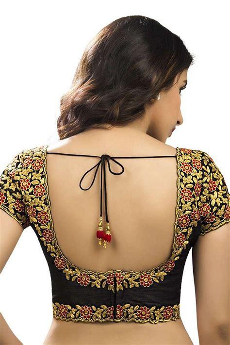 black multicolour raw silk designer wear blouse