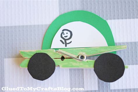 clothespin cars kid craft glued   crafts