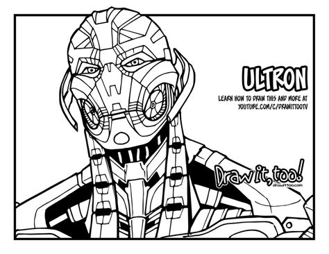 how to draw ultron avengers age of ultron drawing