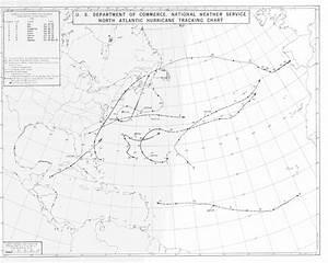 North Atlantic Hurricane Tracking Chart