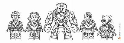Avengers Endgame Lego Coloring Marvel Hulk Drawing