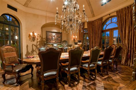 sophisticated mediterranean dining room designs  show