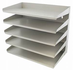 buy fluteline 5 tier letter tray slope back grey at With 5 tier letter tray