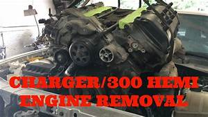 How To Remove Engine From Dodge Charger  Chrysler 300 Hemi