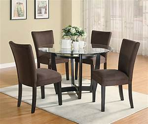 modern round dining room set with brown chairs casual With round modern dining room sets