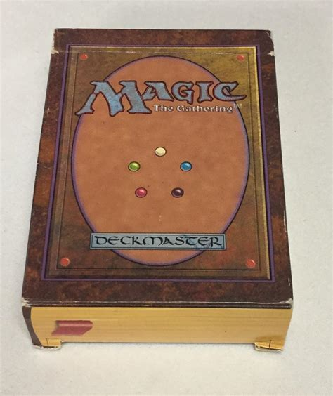 magic the gathering empty alpha starter deck no cards