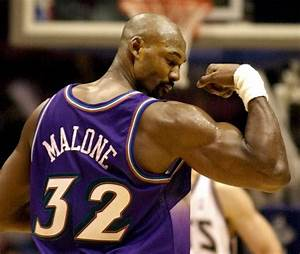 Karl Malone.....miss watching him (and his biceps) in a ...