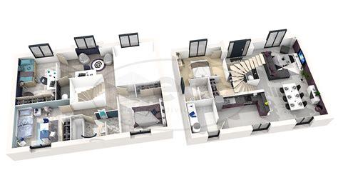 plan de chambre 3d maison émis