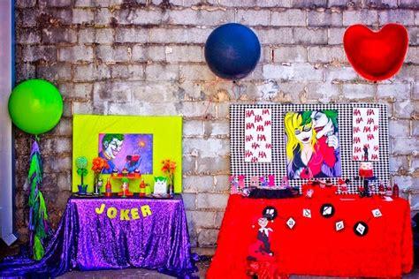karas party ideas joker inspired mad love birthday