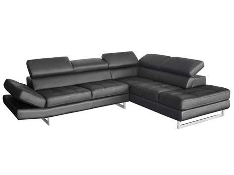 choisir canapé cuir canapé d 39 angle fixe droit 5 places en cuir leman coloris
