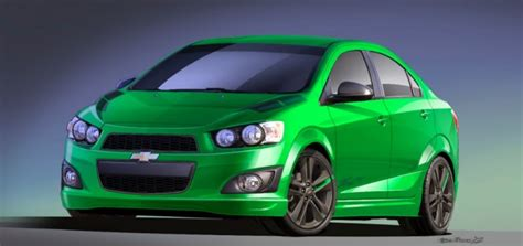 """2014 Chevrolet Sonic Features New """"dragon Green"""" Hue Gm"""