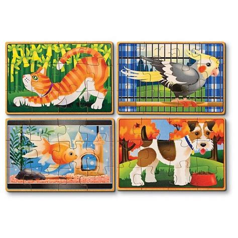 And Doug Floor Puzzles Target by Doug 174 Animals 4 In 1 Wooden Jigsaw Puzzles Set