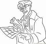 Milo Coloring Thatch James Atlantis Pages Lost Empire Coloringpages101 Cartoon sketch template