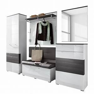 Moderne Garderoben Set : garderoben set wei grau haloring ~ Frokenaadalensverden.com Haus und Dekorationen