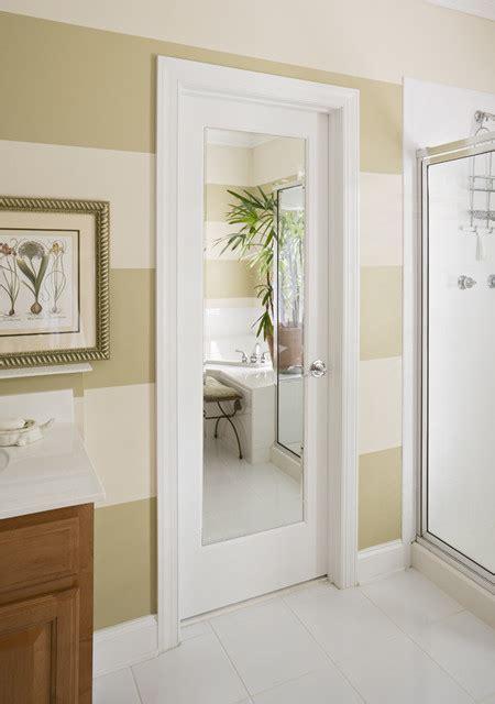 mirror impression door modern bathroom orange county