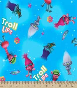 Trolls DreamWorks Fabric