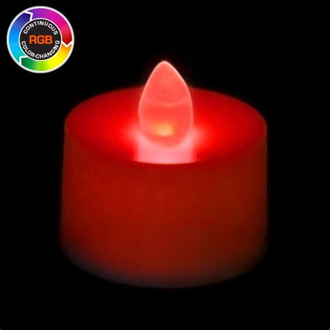 battery operated tea light candle rgb color changing