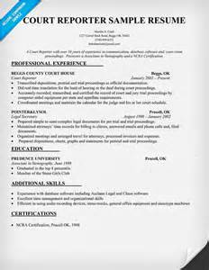 New Court Reporter Resume court reporter resume sle of thoughts